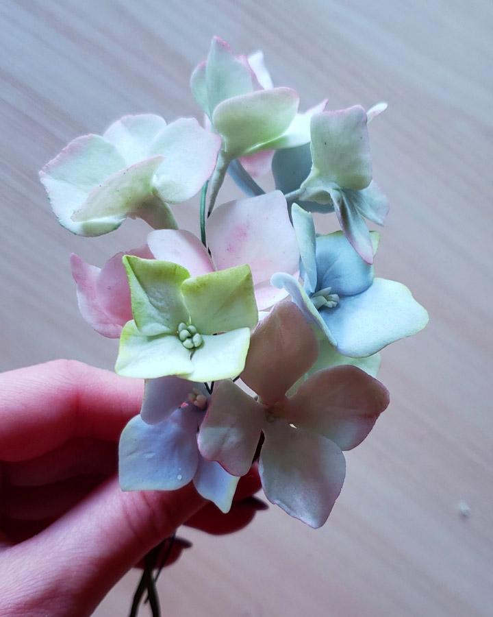 Dahlia, English Rose, Veronica and Hydrangea
