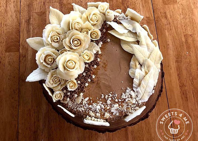 Roasted almonds cake